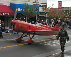 Red Barron type airplane in the parade