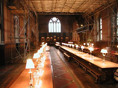 Dining hall in Keeble College, Oxford