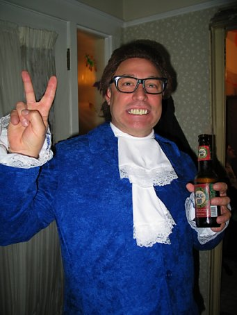 halloween costume: Austin Powers and a beer