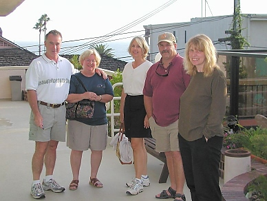 Bob, Cathy, Carolyn, Chuck, Angela at the By The Sea Inn in Laguna Beach