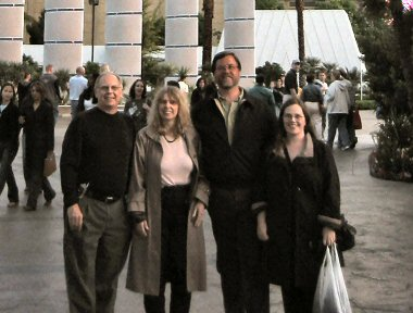 four people standing in front of Bally's hotel, las vegas