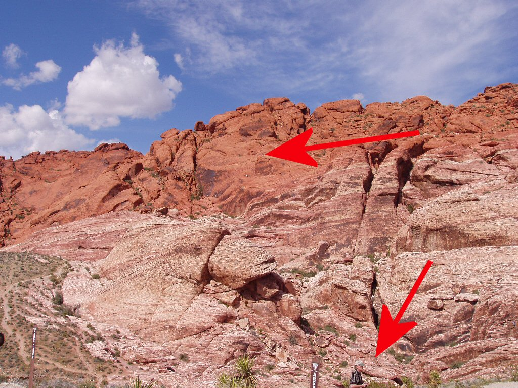 view of red rock, las vegas showing perspective