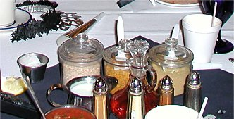 Low Fat, Low Calorie condiments on the table.